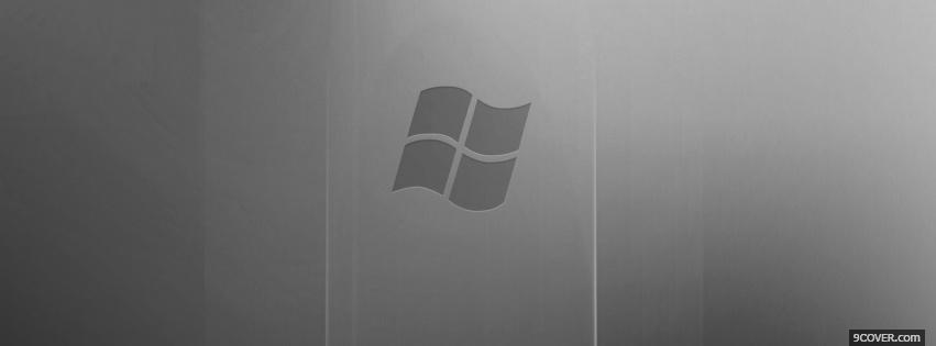 Photo gradient grey windows vista Facebook Cover for Free