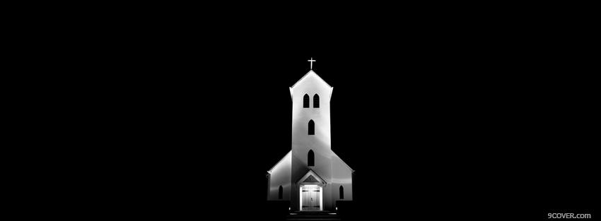 Photo church black and white Facebook Cover for Free