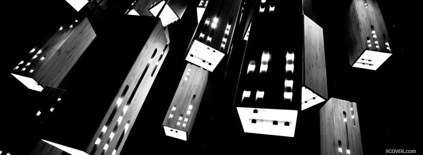 Photo different black and white lamps Facebook Cover for Free