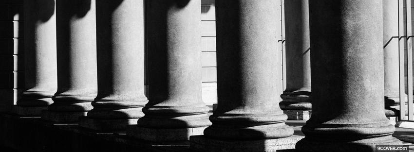 Photo elegant black and white columns Facebook Cover for Free