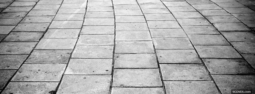 Photo black and white outside floor Facebook Cover for Free