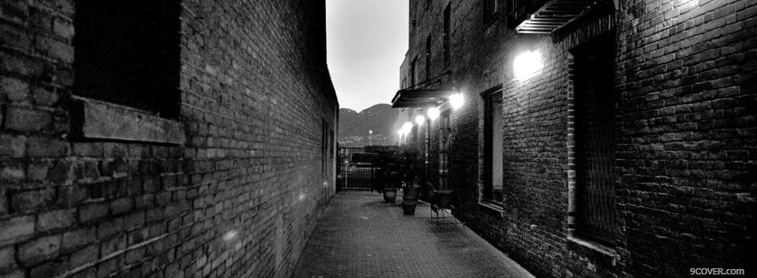 Photo little alley and lights Facebook Cover for Free