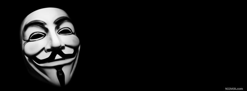 Photo black and white mask facebook cover for free
