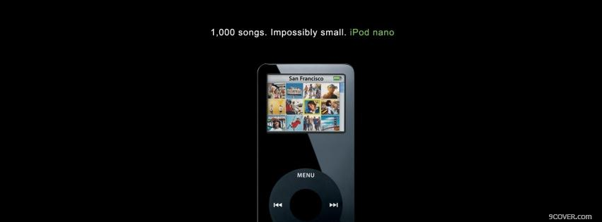 Photo technology ipod nano in black Facebook Cover for Free