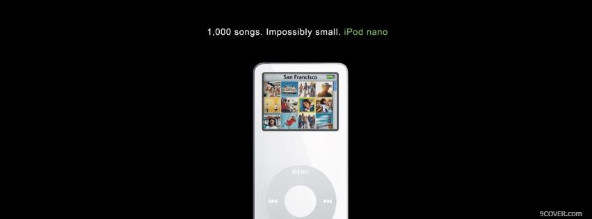 Photo impossibly small ipod nano Facebook Cover for Free