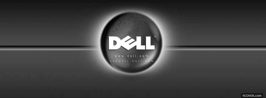Photo technology grey dell Facebook Cover for Free