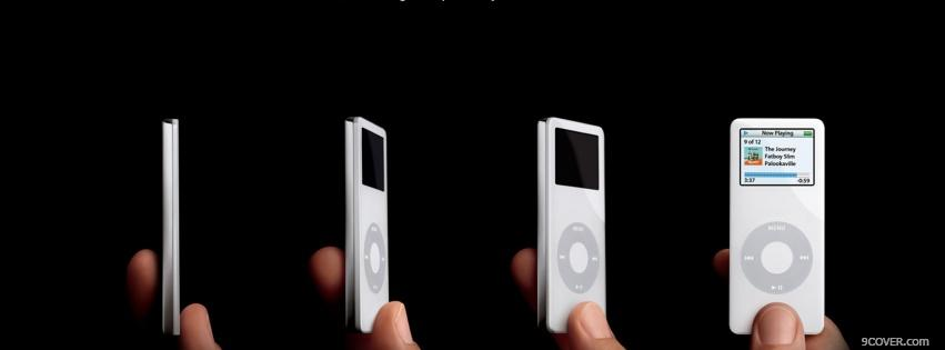Photo technology views of ipod nano Facebook Cover for Free