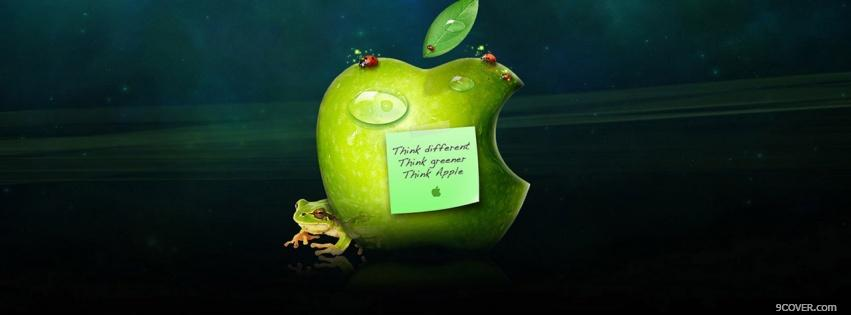 Photo think greener think apple Facebook Cover for Free