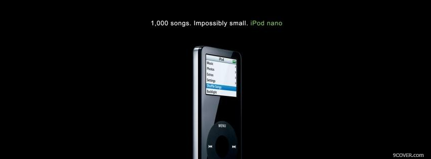 Photo technology black ipod nano Facebook Cover for Free