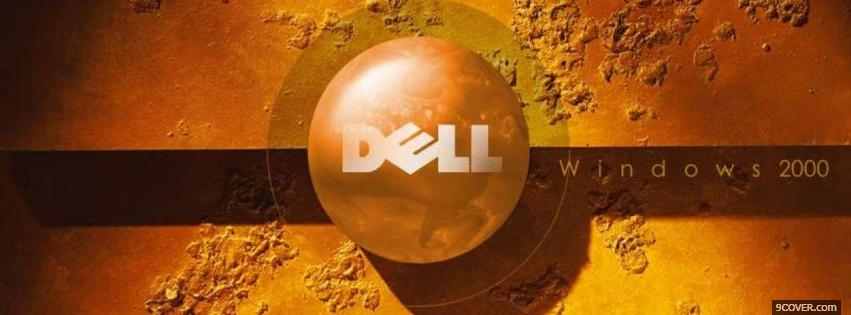 Photo technology orange dell Facebook Cover for Free