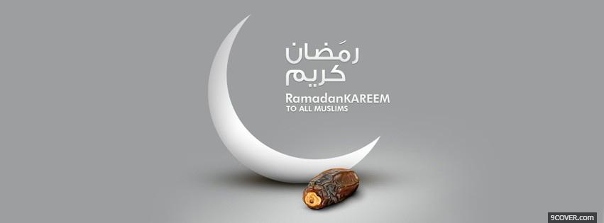 Photo Ramadan kareem 2 Facebook Cover for Free