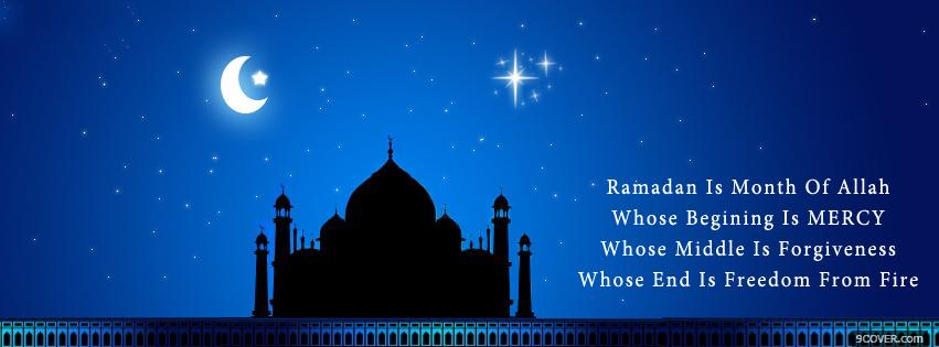Photo ramadan quotes kareem Facebook Cover for Free
