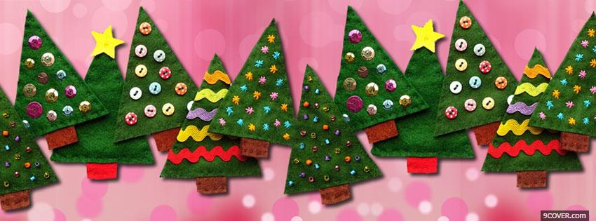 Photo Free Christmas Tree Facebook Cover for Free