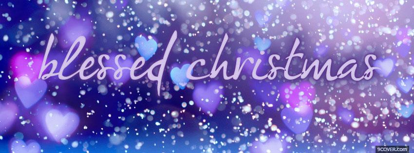 Photo Christmas Cute Love Facebook Cover for Free