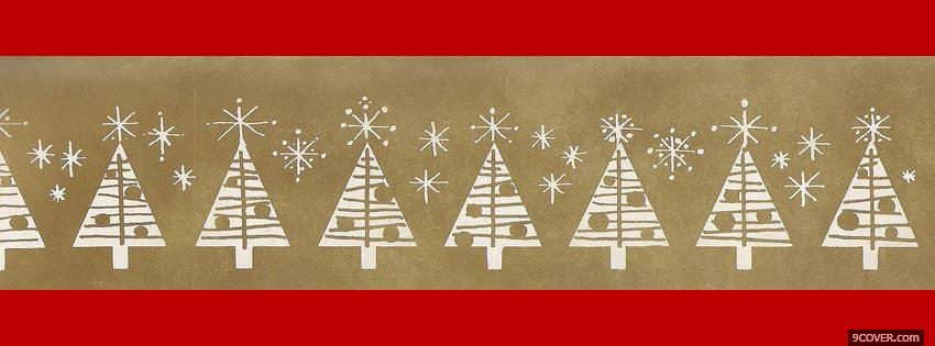 Photo Christmas Tree Facebook Cover for Free