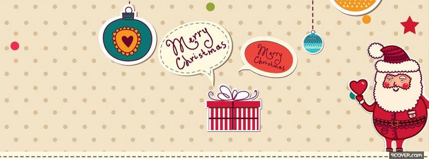 Photo Cute Christmas Facebook Cover for Free