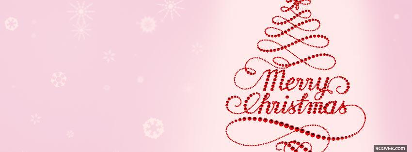 Photo Merry Christmas 2 Facebook Cover for Free