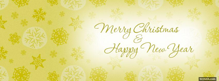 Photo Merry Christmas Happy 2 Facebook Cover for Free