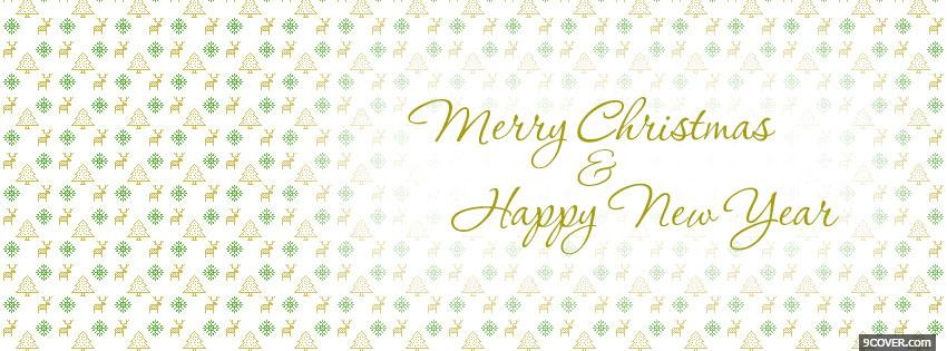 Photo Merry Christmas Happy New Year Facebook Cover for Free