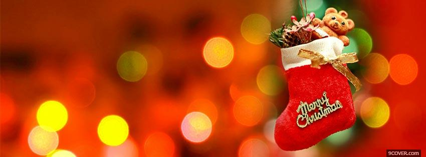 photo merry christmas lights 2 facebook cover for free