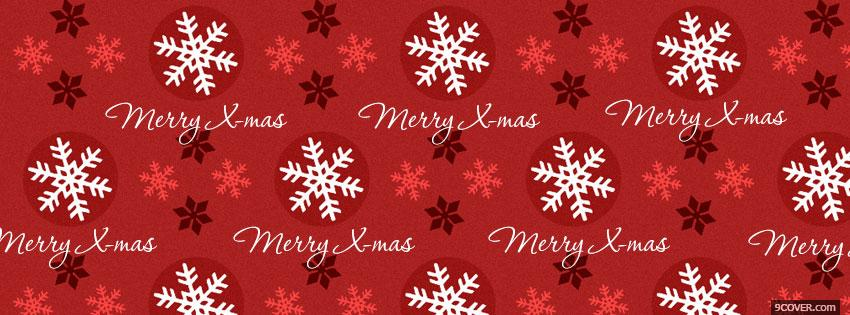 Photo Merry X mas Facebook Cover for Free