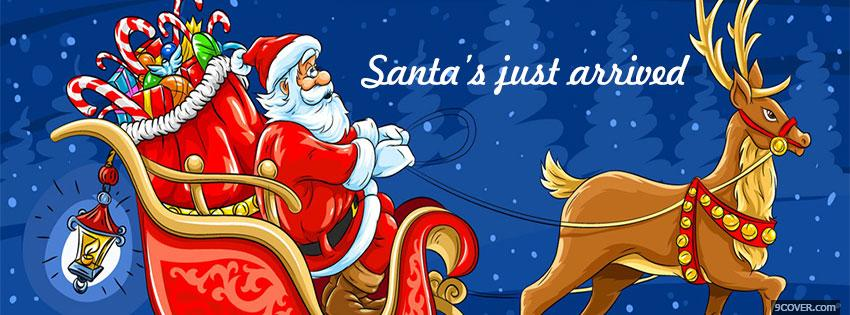 Photo Santa claus Christmas Facebook Cover for Free