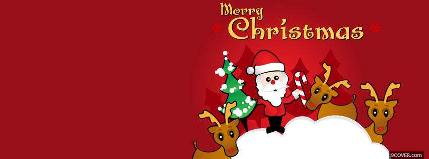Photo santa claus cute 2 Facebook Cover for Free