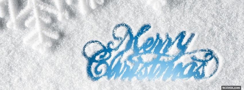 Photo Merry Christmas Snow Facebook Cover for Free