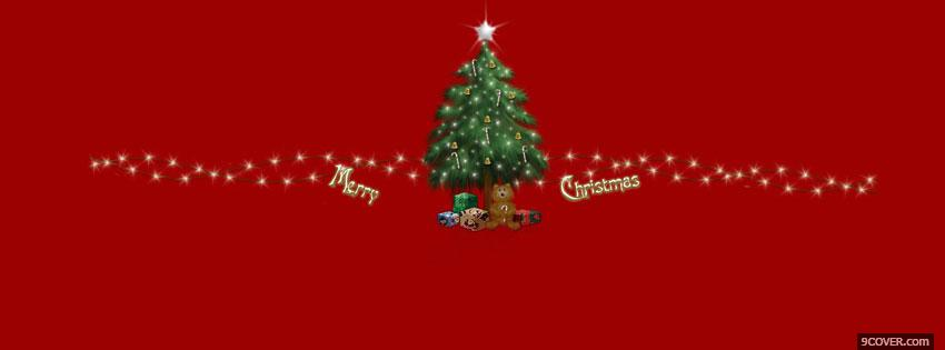 Photo merry christmas holiday Facebook Cover for Free