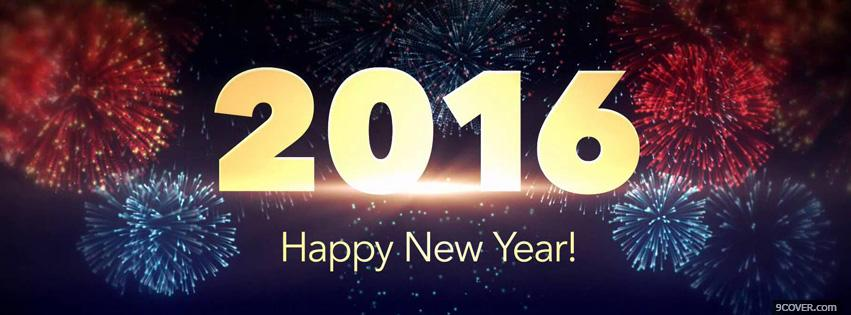Photo 2016 happy new year Facebook Cover for Free