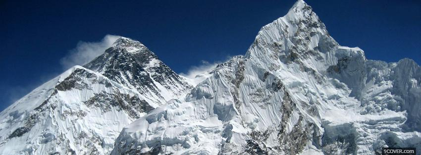 Photo everest nature Facebook Cover for Free
