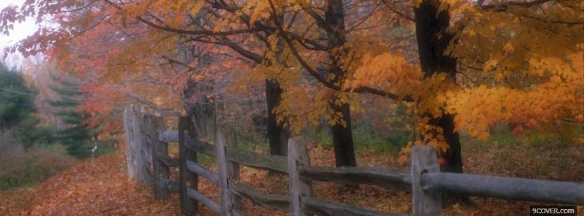 Photo country fence nature Facebook Cover for Free