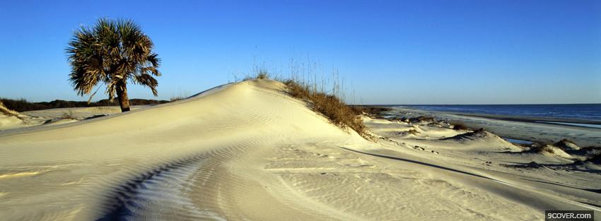 Photo lots of sand nature Facebook Cover for Free