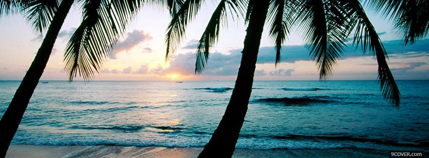 Barbados beach nature photo facebook cover - Nature cover pages for facebook ...