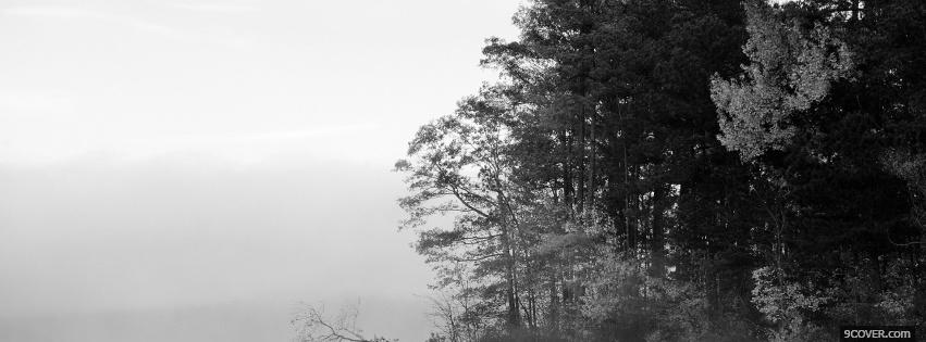 Photo black and white nature Facebook Cover for Free