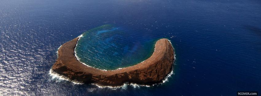 Photo molokini crater nature Facebook Cover for Free