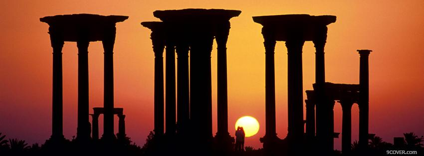 Photo palmyra syria nature Facebook Cover for Free