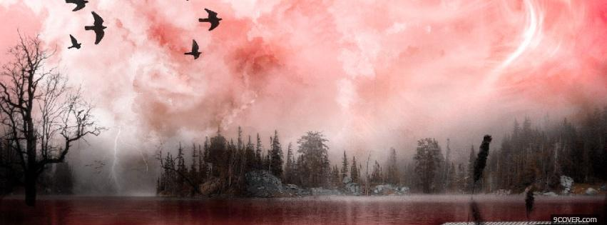 Birds Flying Nature Photo Facebook Cover