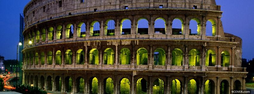 Photo night colosseum nature Facebook Cover for Free