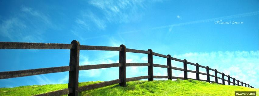 Photo wooden fence nature Facebook Cover for Free
