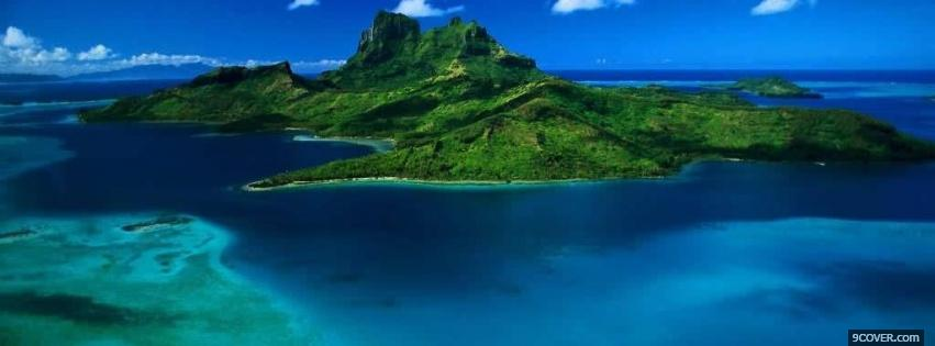 Beautiful Island Nature Photo Facebook Cover