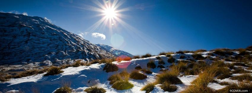 Photo winter sun nature Facebook Cover for Free
