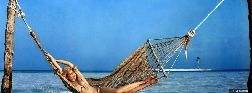 Photo hammock beach nature Facebook Cover for Free