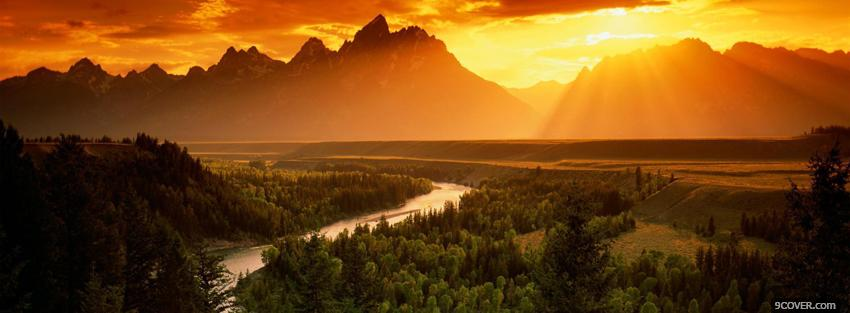 Photo snake river nature Facebook Cover for Free