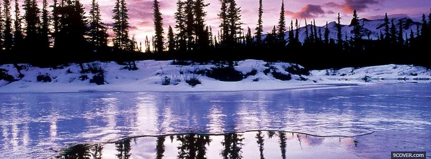 Photo winter water reflection nature Facebook Cover for Free