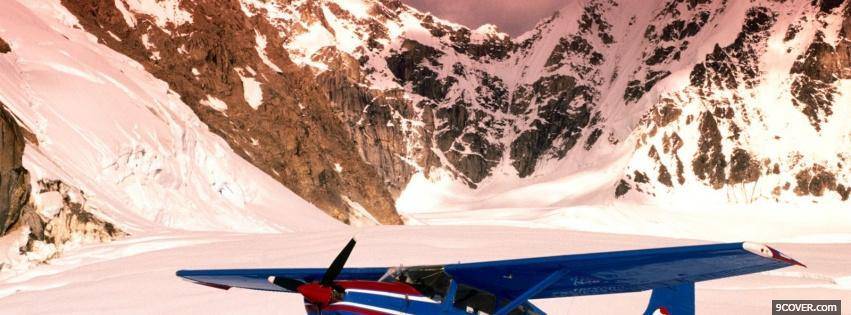 Photo airplane mountains nature Facebook Cover for Free