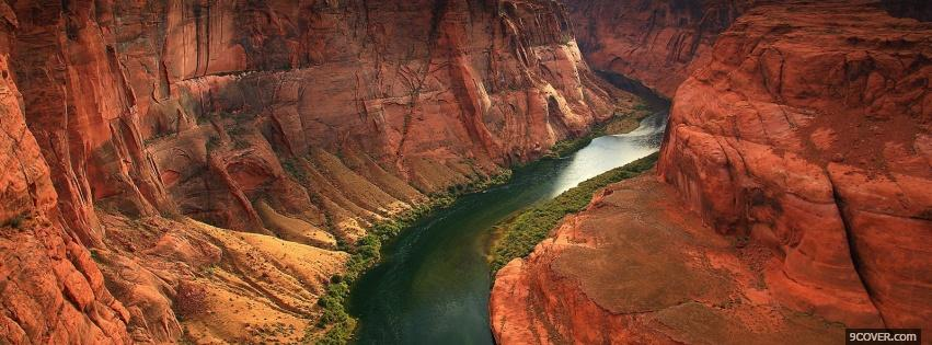Photo the grand canyon nature Facebook Cover for Free