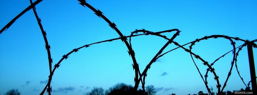 Photo wired fence nature Facebook Cover for Free