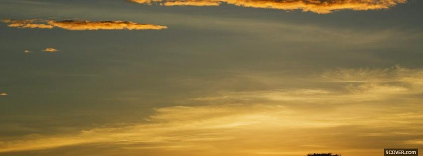 Photo sun and sky nature Facebook Cover for Free