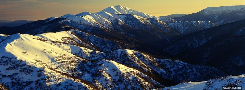Photo alpine national park nature Facebook Cover for Free